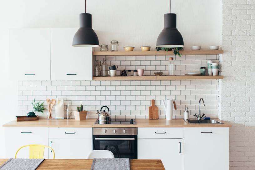 การตกแต่งห้องครัวคอนโดสีสว่าง