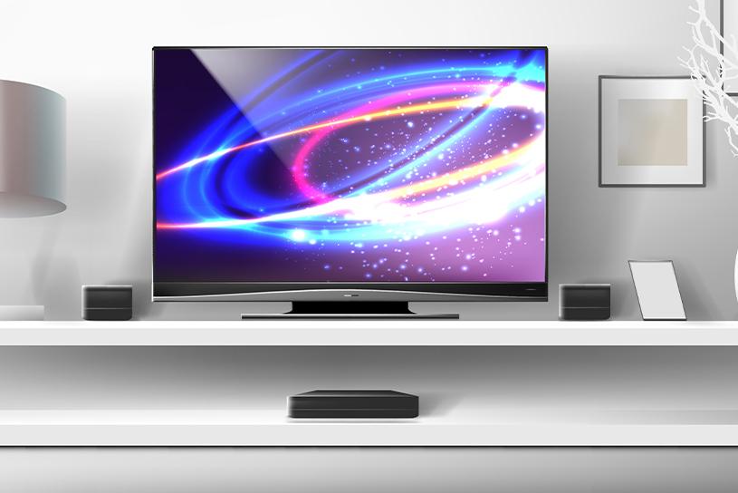 ชั้นวางทีวีที่มีความสูงพอดีกับระดับสายตา